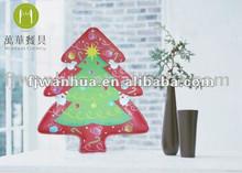 Christmas tree shaped plates