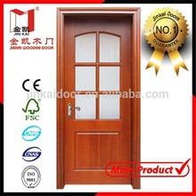 Glass insert solid wood door, manufacturer price