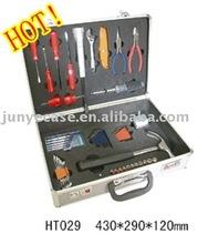 aluminum tool box with cut-out foam insert