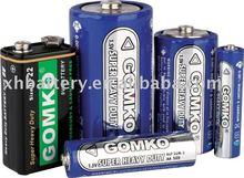 R6 Dry Battery AA size, 1.5v batteries, um-3 carbon zinc battery