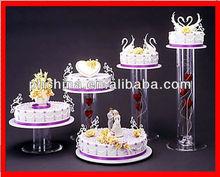 LY-154 Crystal Clear Acrylic Wedding Cake Displays,Countertop Acrylic Wedding Cupcake Stand,Custom Plexiglass Cakes Holder