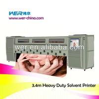 3.3 m large format inkjet printer banner flex printer for sale flex printing machine