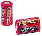 2/3A 1200mAh 1.2V rechargeable NiMH battery