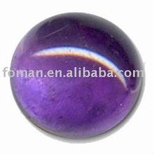 30mm round natural amethyst cabochon loose gemstone