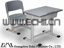 school furniture height adjustable single Metal student desk and chair