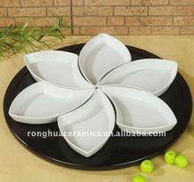 Huaide RH016-MP White Fine Porcelain Serving Dishes Set