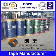 High Viscidity Heavy Duty Custom Printed BOPP Tape Jumbo Rolls