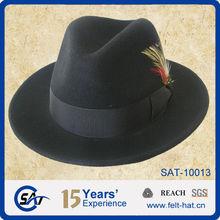100% Wool Felt Hat/ fedora hat fedoras