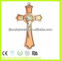 8 polegadas brozen chapada parede religioso são bento crucifixo, Standing crucifixo