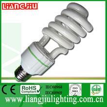 snow white half spiral energy saving bulb with CE, ROHS, IEC60968,ISO9001:2008, SONCAP, SASO