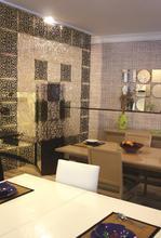 Sultan Design Decorative Room Separator (Black and White)