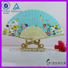 Popular! bamboo paper hand fan with view design