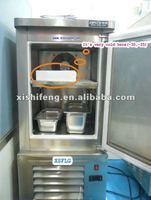cold freezer used to cool food rapidly / Blast freezer