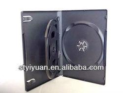 dvd case 14mm 3discs black 3disc dvd case