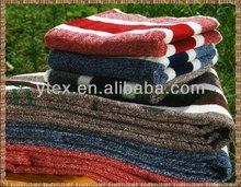 100% cotton stripe bath towel fabric