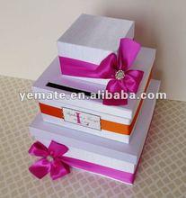 Paper cupcake box, wedding cake boxes, wedding cake card box--GB-55