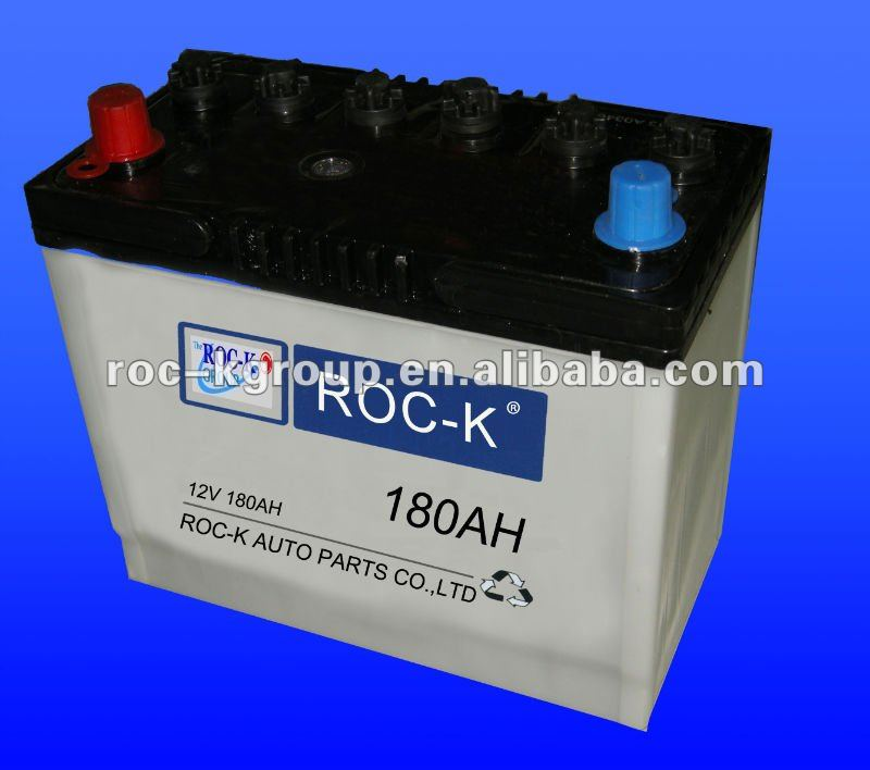 180AH 12V dry charged lead acid carbattery