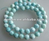 8mm very nice round larimar beads