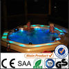 2014 new arrival Europe LED round whirlpool outdoor spa