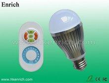 6W RGB LED Motion Infrared Sensor Bulb 550 Lumens