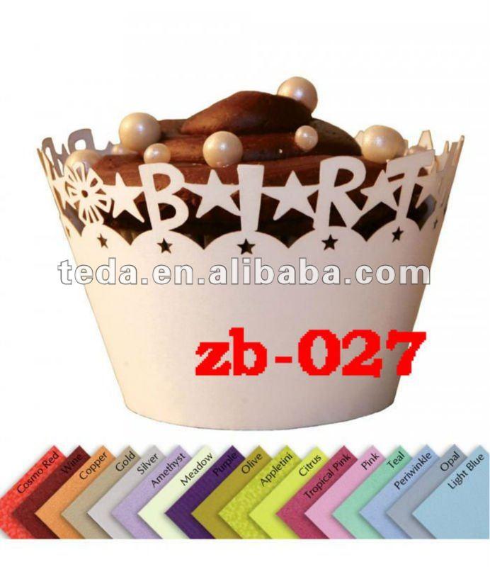 Decoración de cumpleaños mini envolturas de la torta cajas