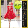 Hot Sale Noble Short Organza Beaded Lace Appliqued Long Sleeve Zuhair Murad Evening Dresses Made In China