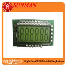 three line serial interface segmented lcd