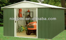 Morden steel storage shed with different colors