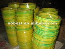 PVC insulated Yellow&Green Electrical Wire 2012
