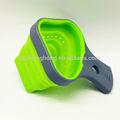 práctico plegable de silicona masa cesta con mango de plástico cesta de fideos