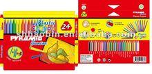 24ct Plastic Triangular Crayon Set