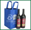 Non woven tote bag 4 bottle wine bag