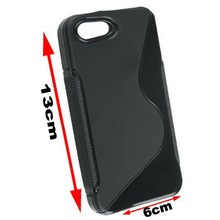 Black X Line Gel Soft TPU Back cover case for iphone 5 5G 5S