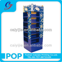 Multi function/beauty/bookstore eyeglass cardboard basketball tabletop display rack snacks daily necessities