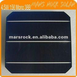 Latest 4.5W 19% Efficiency 156mm Monocrystalline Silicon Solar Cell