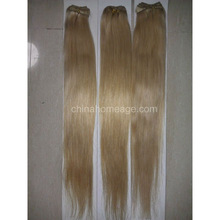 homeage 100% human platinum blonde hair weft wholesale