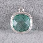 Jewelry bezel gemstone bead pendant for Bracelet&Necklace making-P4357