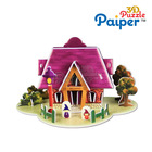 Mini 3d puzzle card for children eps foam house small toys