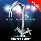 Brass Chrome Kitchen Double Handles Water Faucet