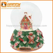 Custom home decoration craft 100mm chirstmas house snow globe