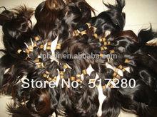 2014 Natural color Good luster Virgin indian hair wholesale