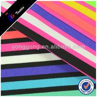 Bright Color Stripe Design Knited nylon print stripe Fabric