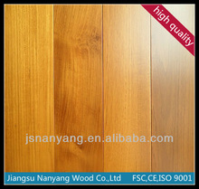 With CE, FSC, ISO certification Burma teak wood price engineered hardwood flooring