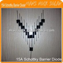 15A Schottky Barrier Diode / Solar Schottky Diode / Solar Junction Box Schottky Bypass Diodes 15A