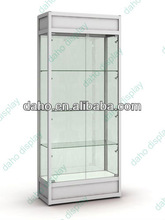 new fashion style glass store display showcase for cosmetic display