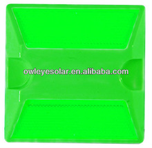 green color plastic road stud ,cat eye road stud ,traffic road mark