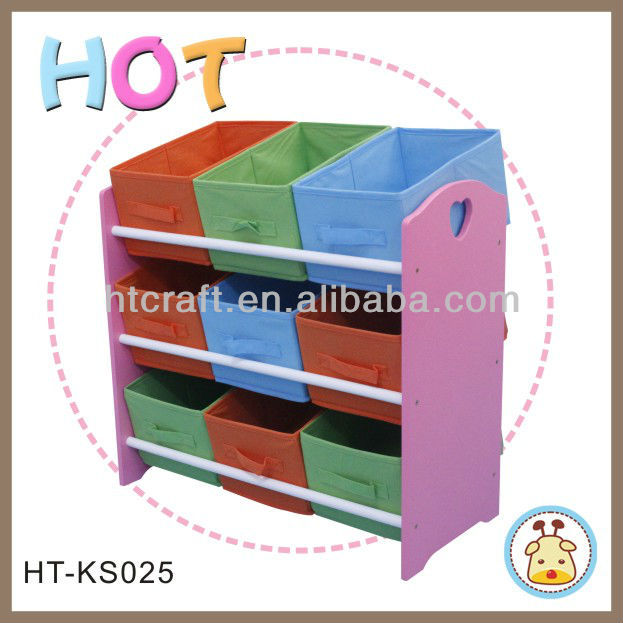 China Supplier HT-KS025 Wooden Toy Storage for Kids