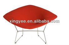Chrome steel frame red/purple/black/yellow velvet/fabric/leather cushion living room chair