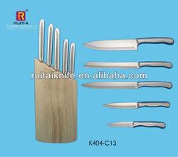 Yangjiang knife in wooden block
