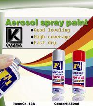Arylic aerosol acrylic paint bright colours
